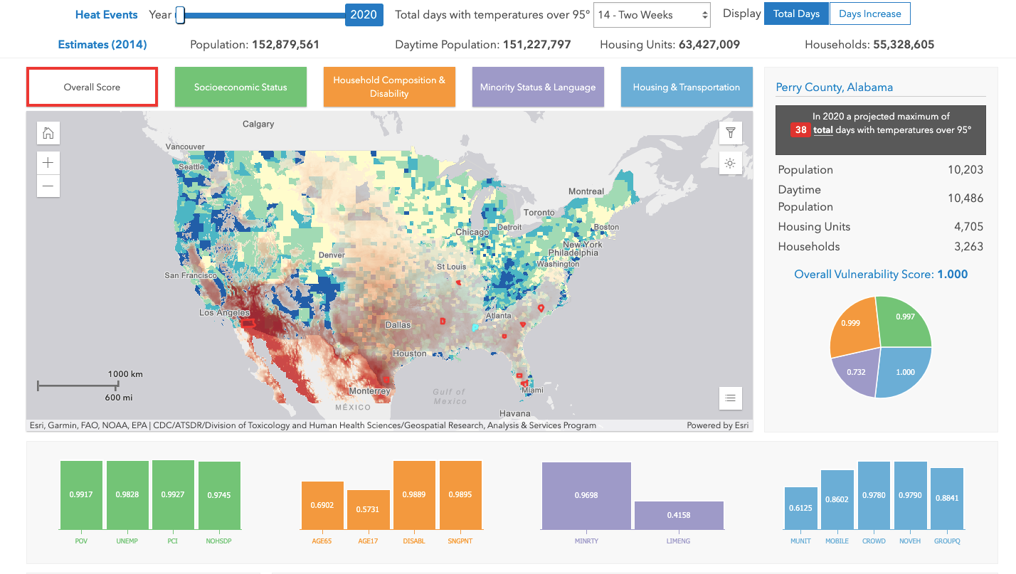 Extreme Heat Vulnerability Map Tool