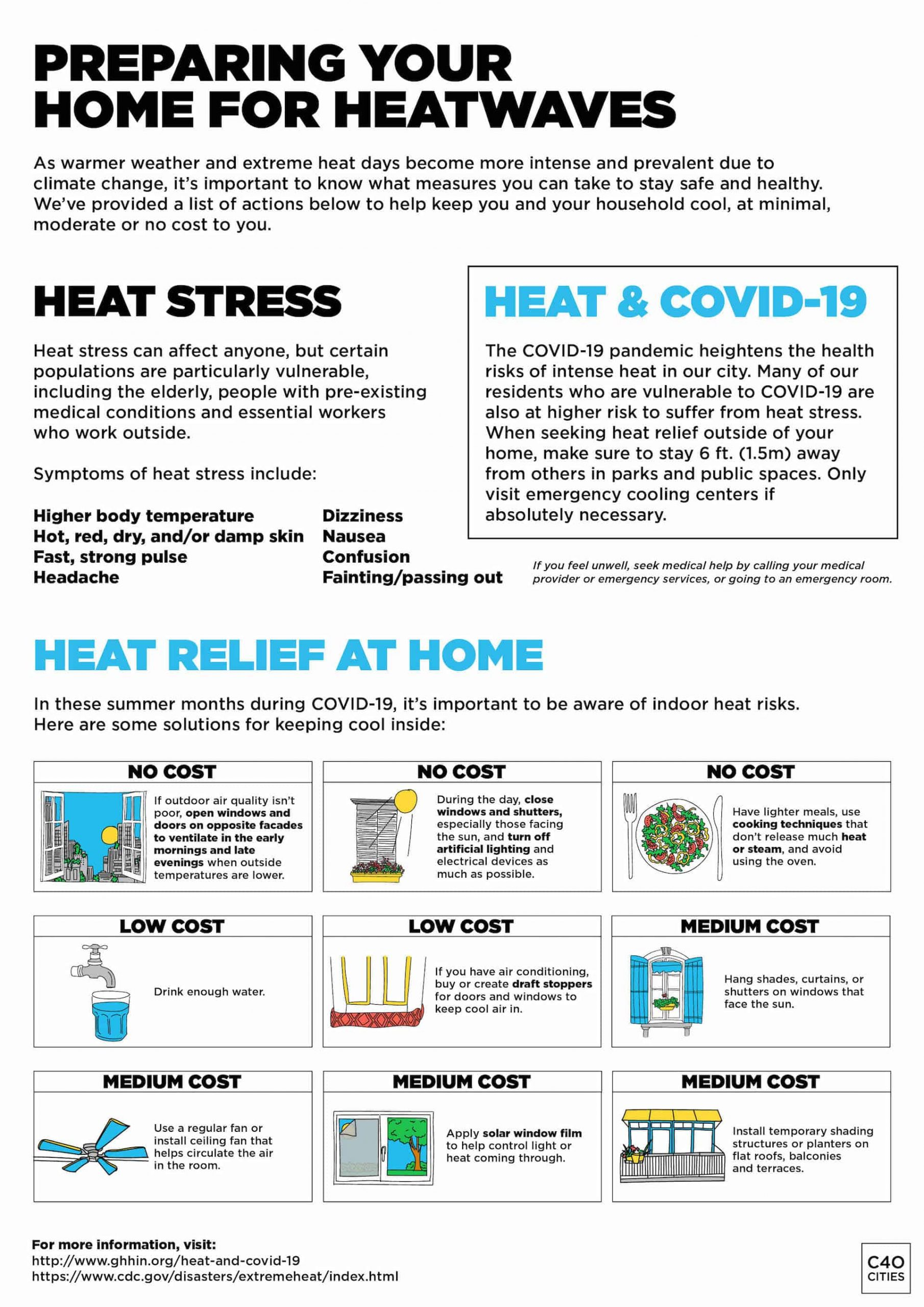 Home Cooling Tips during COVID-19 messaging toolkit for cities