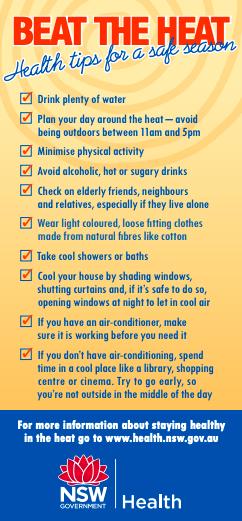 Beat the Heat, Health Tips for a Safe Season